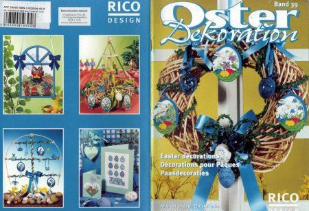 Húsvéti dekorációk - Rico leszámolható keresztszemes mintafüzet