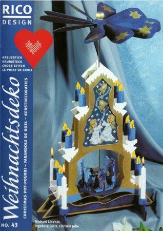 Karácsonyi dekorációk - Rico leszámolható keresztszemes mintafüzet