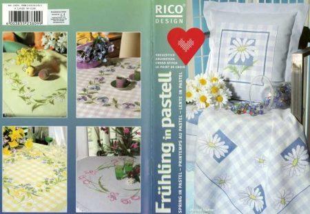 Pasztel tavasz - Rico leszámolható keresztszemes mintafüzet