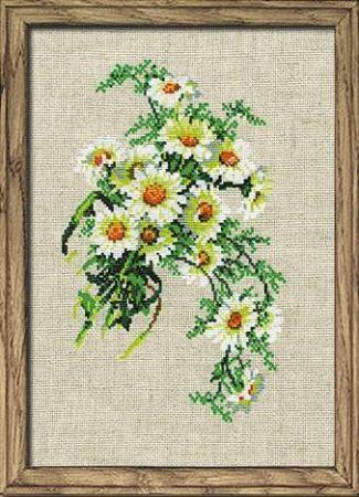 Kamilla virág csokor - Riolis leszámolható keresztszemes készlet