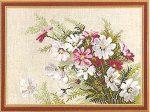 Pillangó virág csokor - Riolis leszámolható keresztszemes készlet
