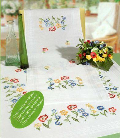 Mezei virágok - Rico előfestett hatalmas asztalterítő
