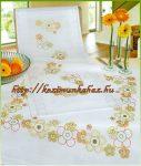 Virágos- előfestett Rico keresztszemes hatalmas asztalterítő