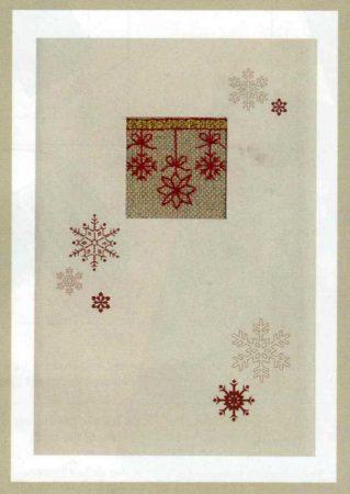 Karácsonyi üdvözlő lap jégkristály - Rico leszámolható keresztszemes készlet