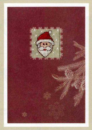 Karácsonyi üdvözlő lap mikulás - Rico leszámolható keresztszemes készlet