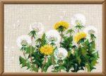 Gyermekláncfű virág - Riolis leszámolható keresztszemes készlet