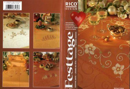 Ünnepekre - Rico leszámolható keresztszemes mintafüzet