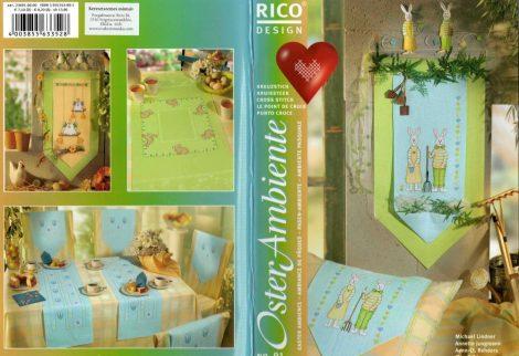 Húsvéti - Rico leszámolható keresztszemes mintafüzet