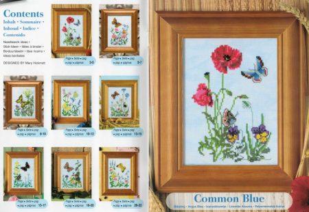 Pillangók - Zweigart leszámolható keresztszemes mintafüzet