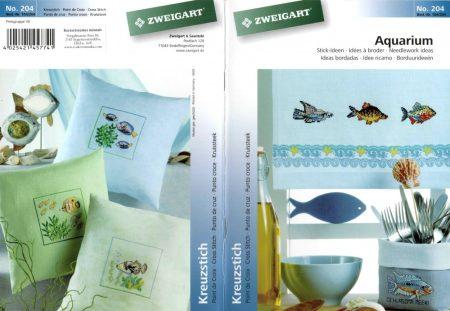 Akvárium - Zweigart leszámolható keresztszemes mintafüzet