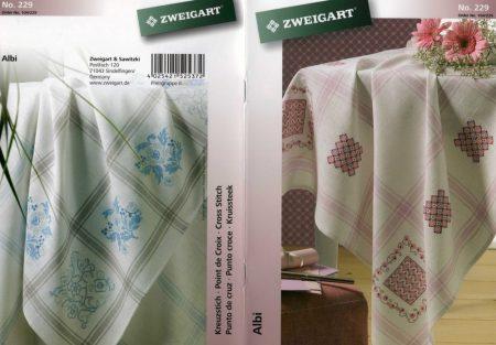 Tradicionális terítő blokk minták - Zweigart leszámolható keresztszemes mintafüzet
