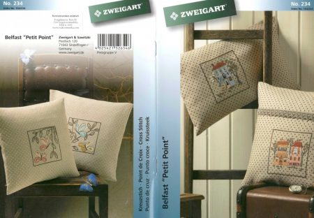 Változatok belfast pöttyös anyagokra - Zweigart leszámolható keresztszemes mintafüzet