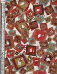 Karácsonyi párnák - mintás vászon anyag