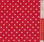 Szíves piros - vászon anyag