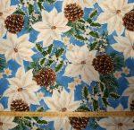 Mikulás virág vászon anyag