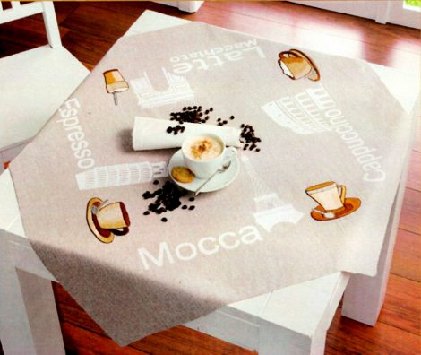 Kávé Európa körül - előnyomott asztalterítő