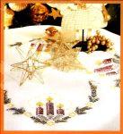 Gyertyák - előfestett keresztszemes asztalterítő