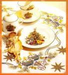 Hegedű és gyertyák - előfestett keresztszemes asztalterítő