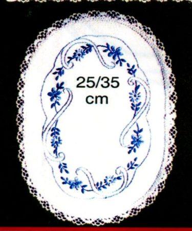Kék virágok - előfestett terítő