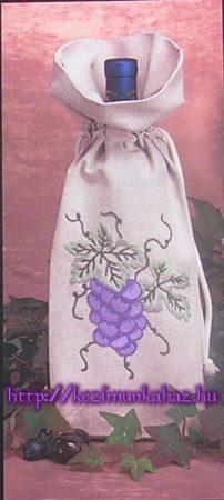 Szőlőfürt - előfestett boros zsák