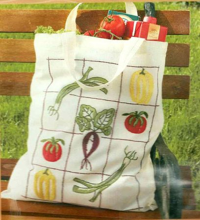 Zöldségek - előfestett szatyor