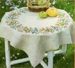 Őszi koszorú - előfestett asztalterítő