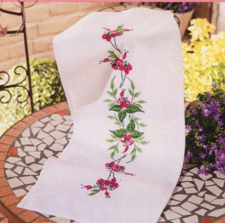 Murvafürt virág - előfestett futó terítő