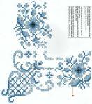 Kék rózsa - előfestett keresztszemes terítő