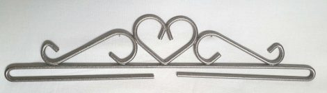 Szív akasztó - ezüst - 30 cm