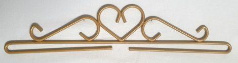 Szív akasztó - arany - 30 cm
