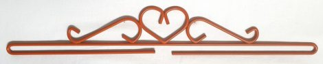 Szív akasztó - barna - 40 cm
