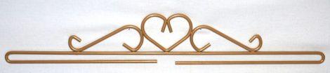 Szív akasztó - arany - 40 cm