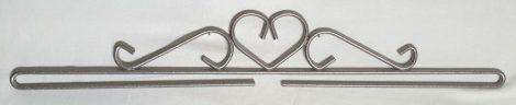 Szív akasztó - ezüst - 40 cm