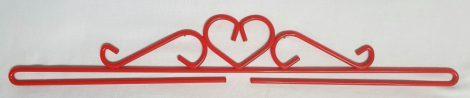 Szív akasztó - piros - 40 cm