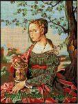 Jan van Scorel: Mária Madgaléna - előnyomott gobelin