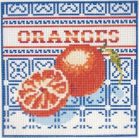 Narancs - előnyomott gobelin