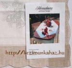 Gyertya csengőkkel - előfestett keresztszemes asztal terítő