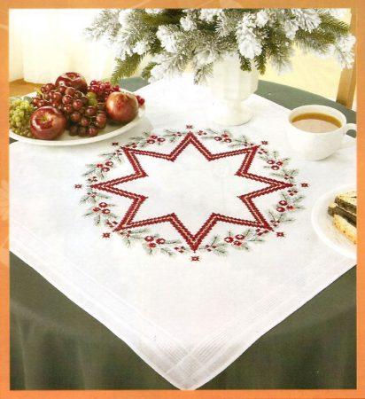 Csillag - előfestett keresztszemes asztalterítő