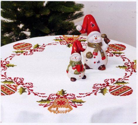 Karácsonyi füzér - előfestett keresztszemes asztalterítő