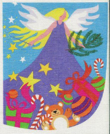 Karácsonyi angyal - előnyomott gobelin