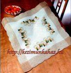 Gyertyák - előfestett asztal terítő
