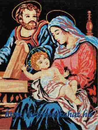 A szent család előnyomott gobelin