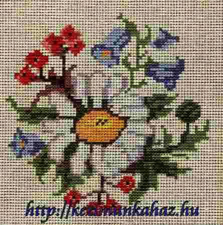 Virágok - előnyomott gobelin