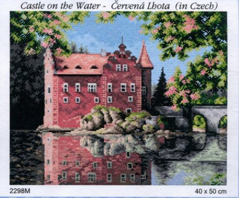 Vízi kastély - előnyomott gobelin