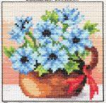 Búzavirágok - előnyomott gobelin