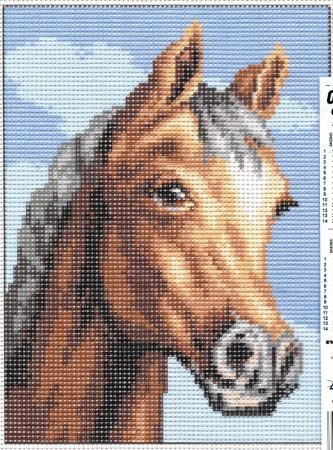 Ló - előnyomott gobelin