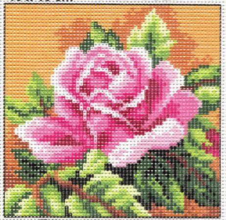 Rózsaszín rózsa - előnyomott gobelin
