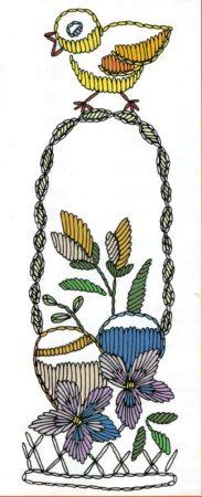 Húsvéti masni - előfestett masni szalag