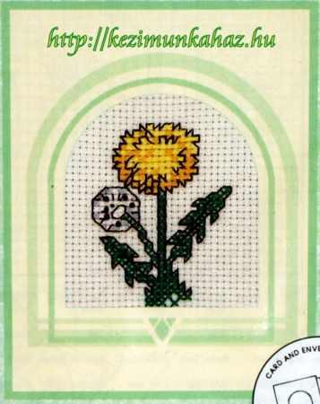 Gyermekláncfű - keresztszemes képeslap készlet