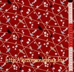 Madarak virágos ágon - mintás vászon anyag